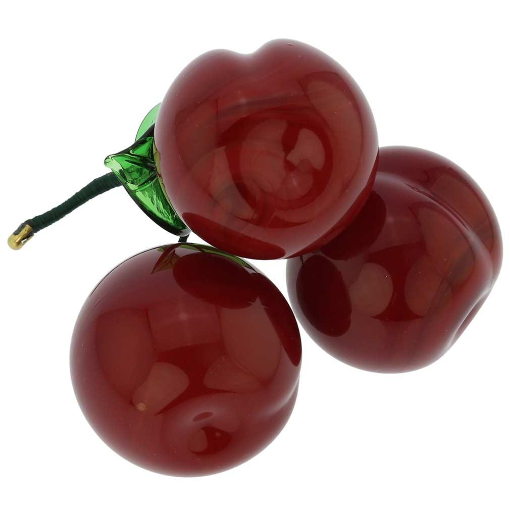 Murano Glass Cherry Figurine