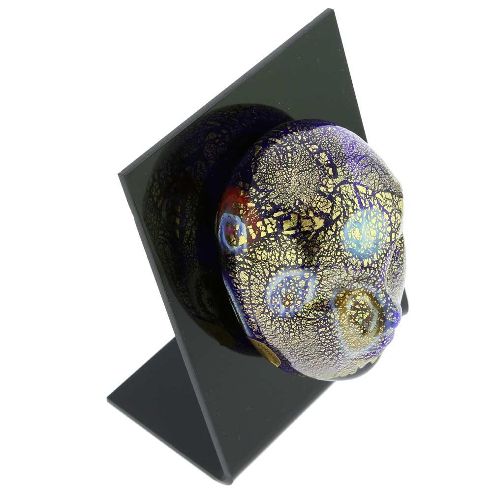 Murano Glass Venetian Carnival Mask - Blue