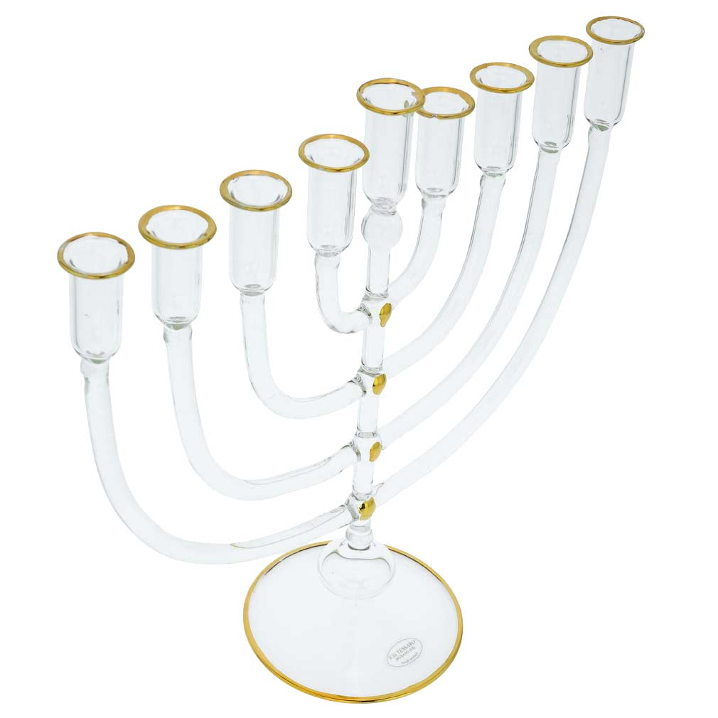 Murano Glass Nine Branch Menorah