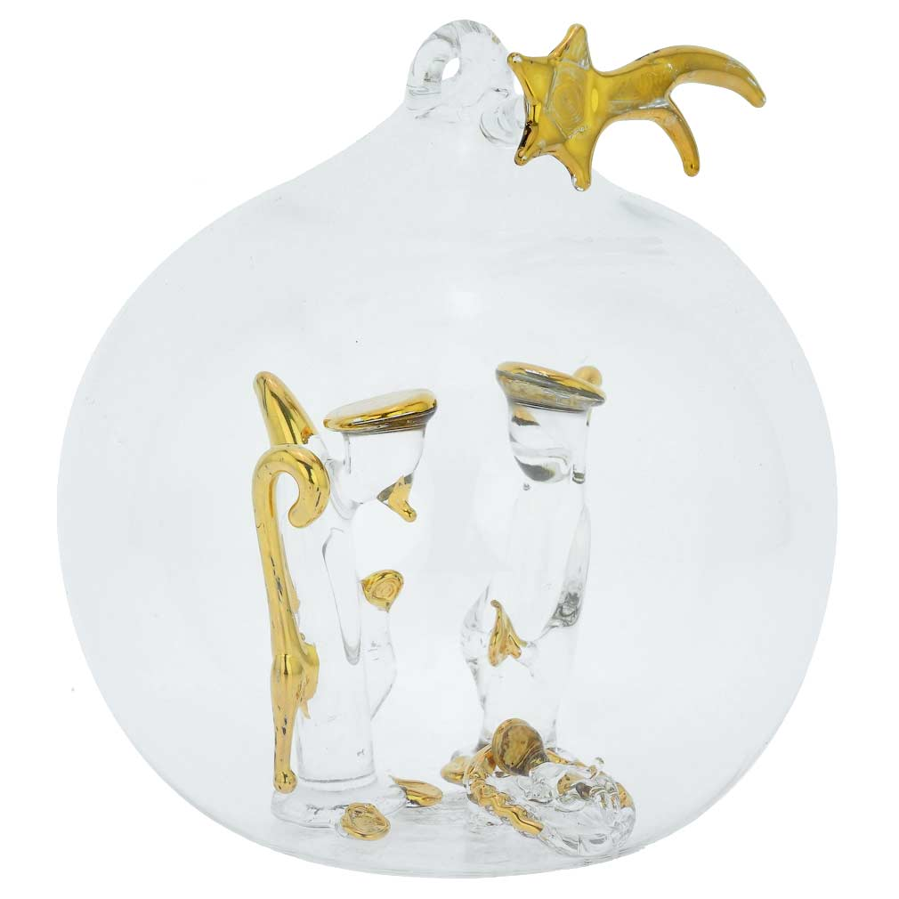 Murano Glass Nativity Scene Christmas Ornament