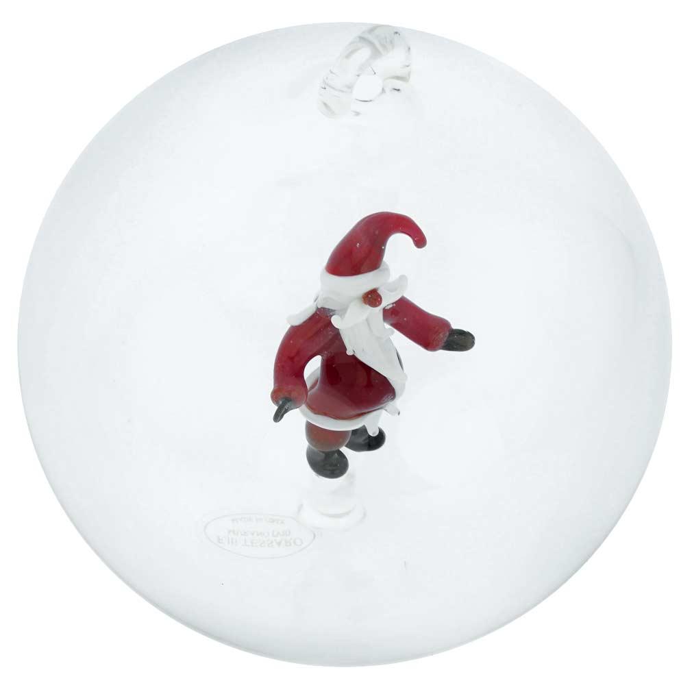 Murano Glass Santa Christmas Ornament
