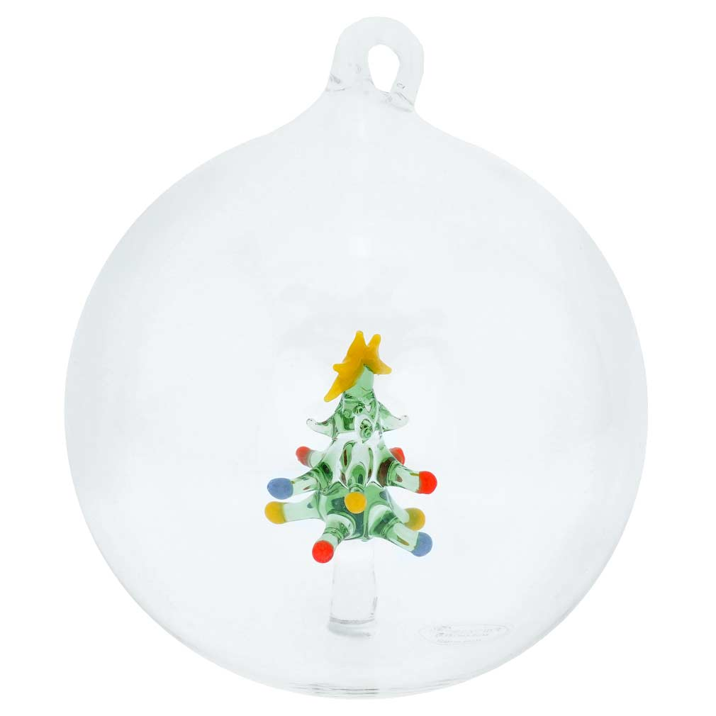 Murano Glass Christmas Tree Ball Christmas Ornament