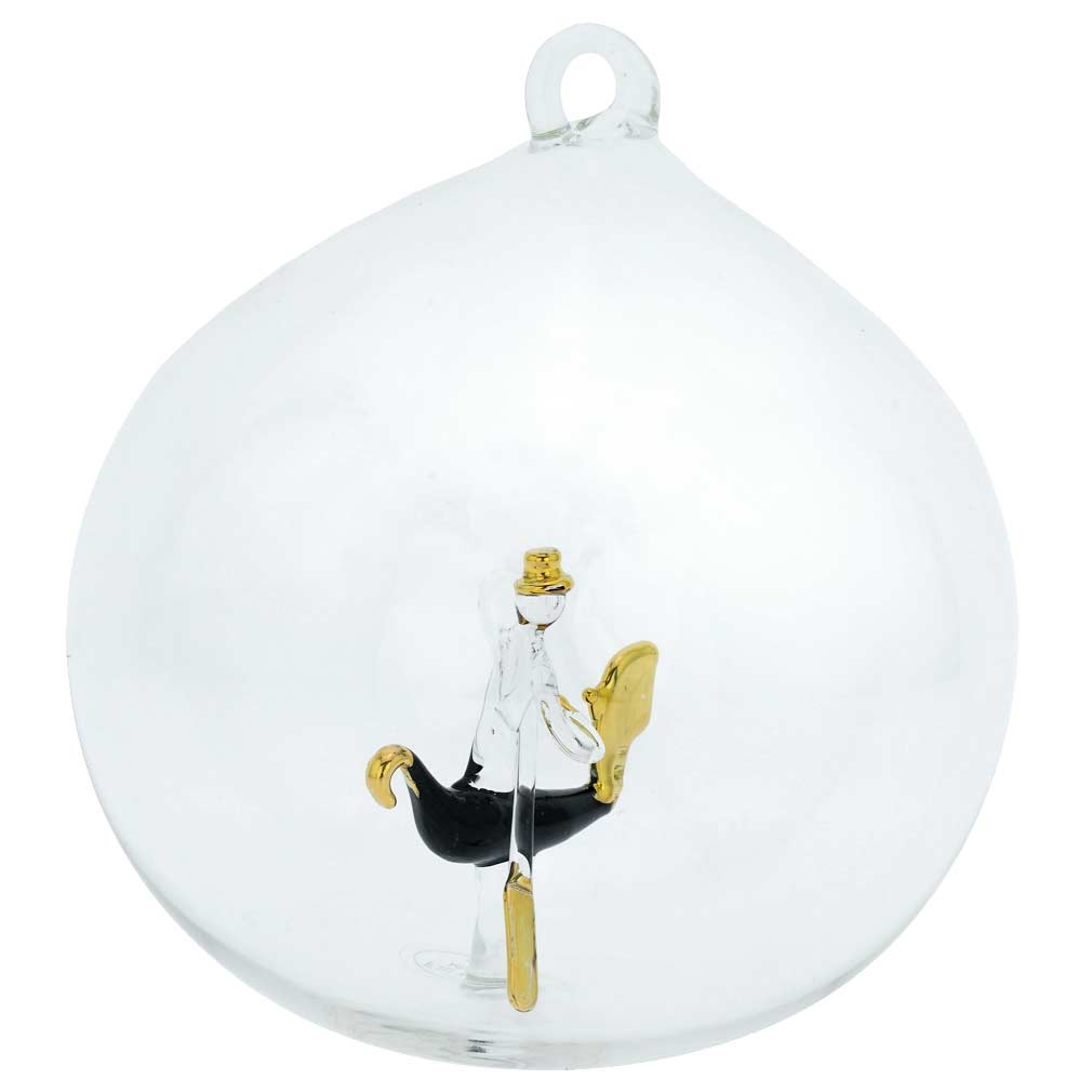 Murano Glass Gondola Christmas Ornament