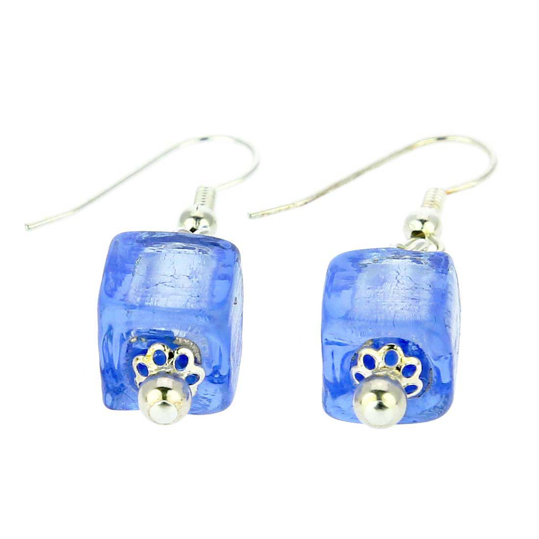 Antico Tesoro Cubes Earrings - Silver Ice