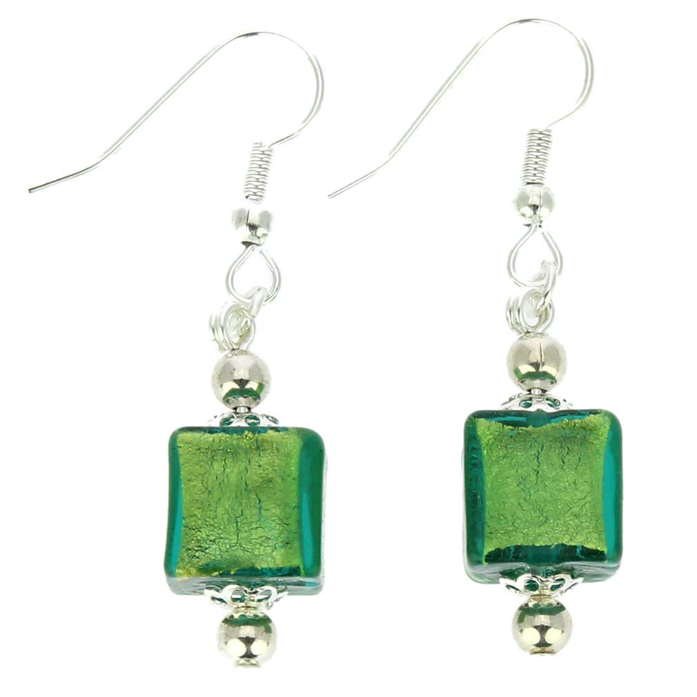 Antico Tesoro Cubes Earrings - Silver Ocean
