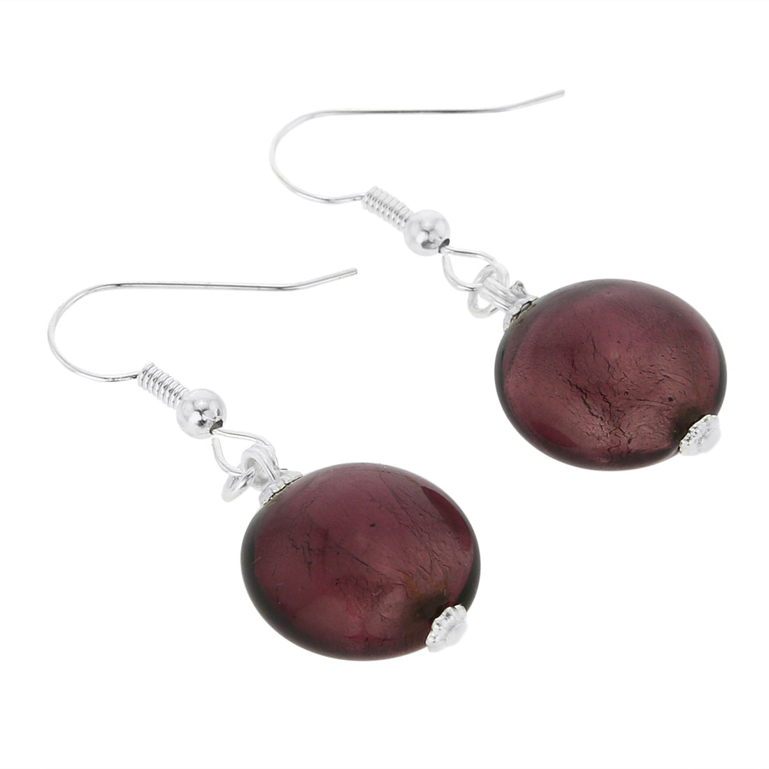 Antico Tesoro Disk Earrings - Silver Purple