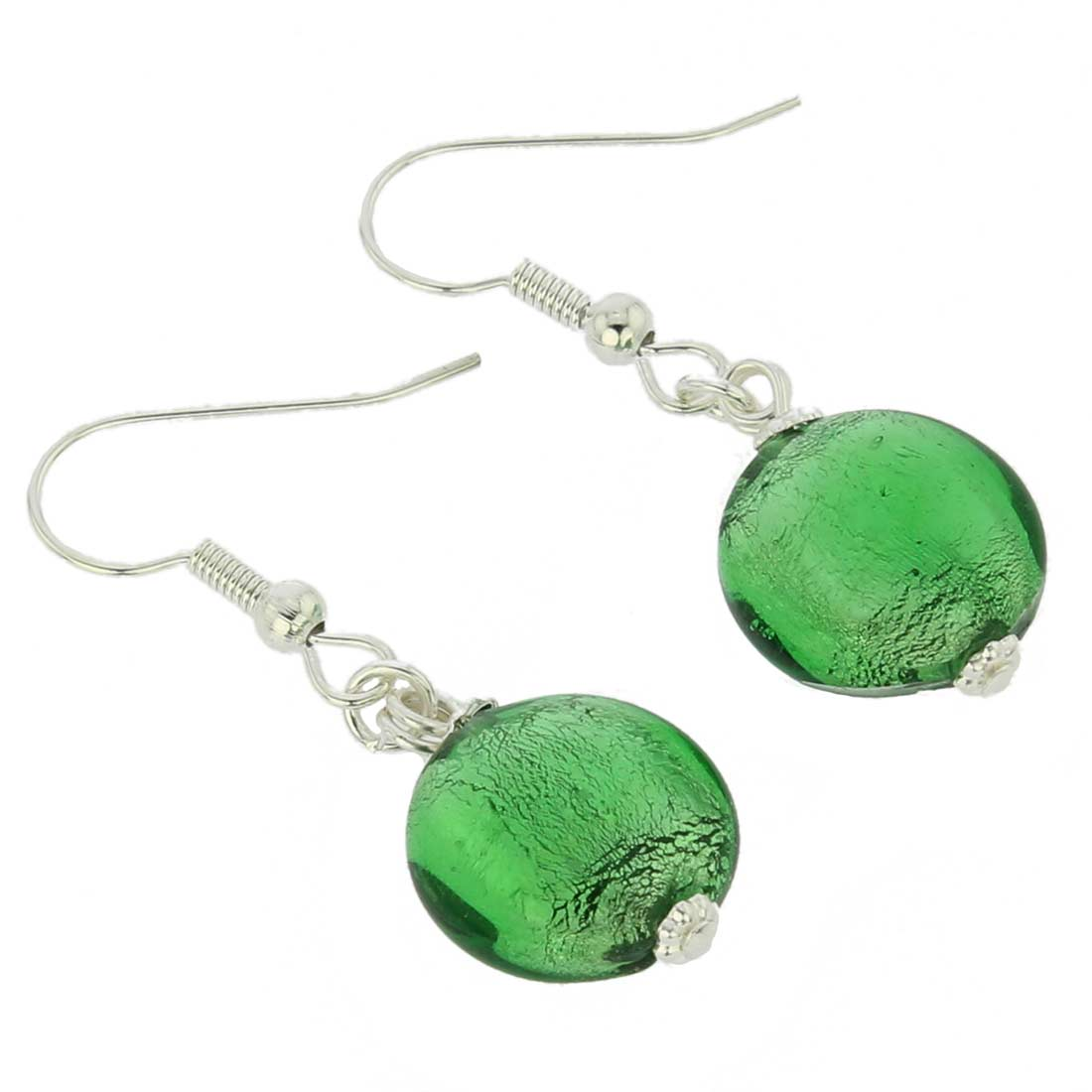 Antico Tesoro Disk Earrings - Silver Ocean