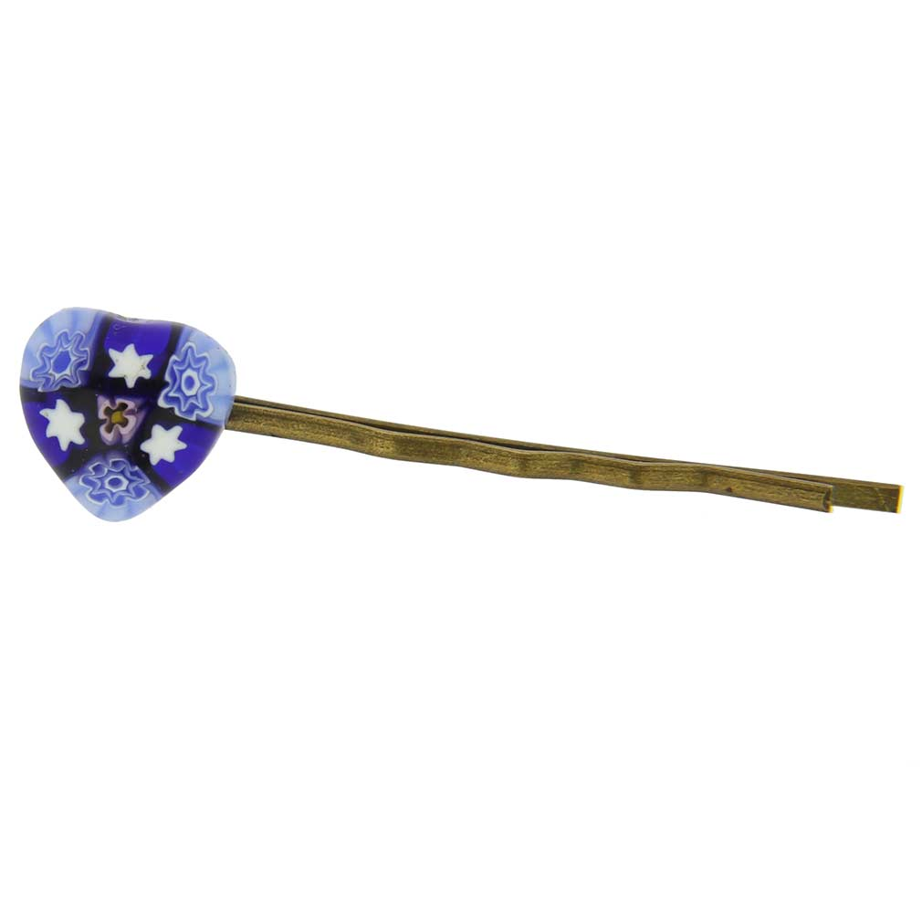 Millefiori Heart Hair Pin