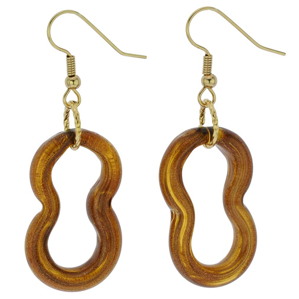 Infinity Earrings - Golden Brown