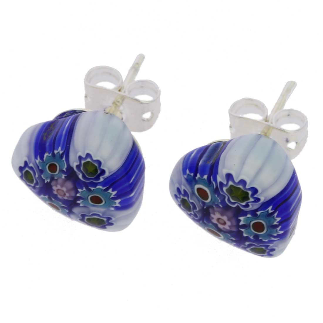 Millefiori Heart Stud Earrings #2