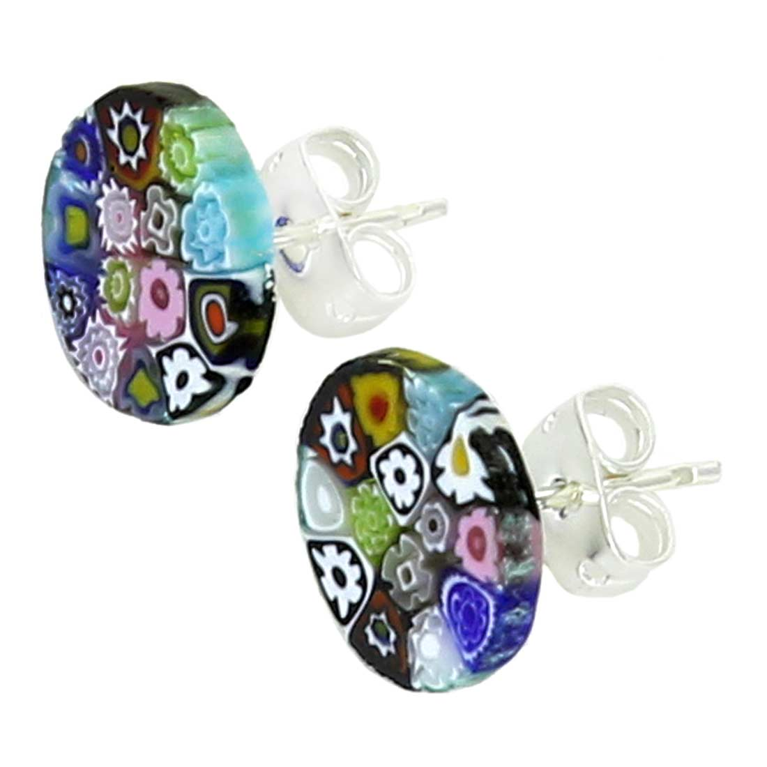 Millefiori Stud Earrings - Round #3