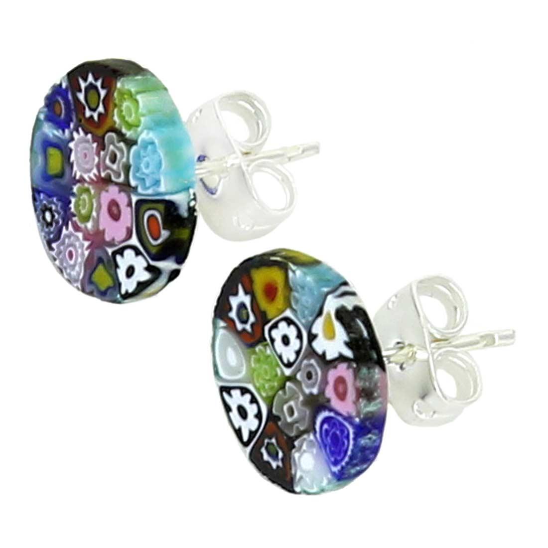 Millefiori Stud Earrings - Round #3
