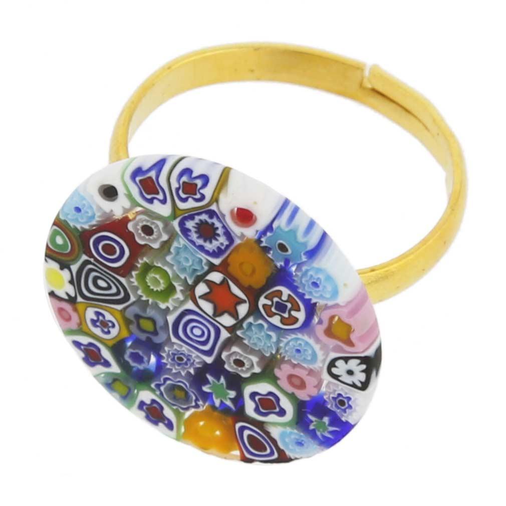 Murano Millefiori Ring 3/4 Inch