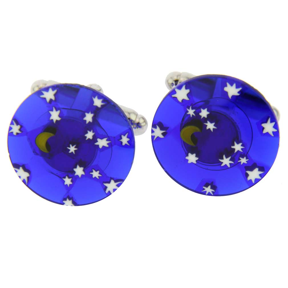 Murano Millefiori Cufflinks - Starry Night