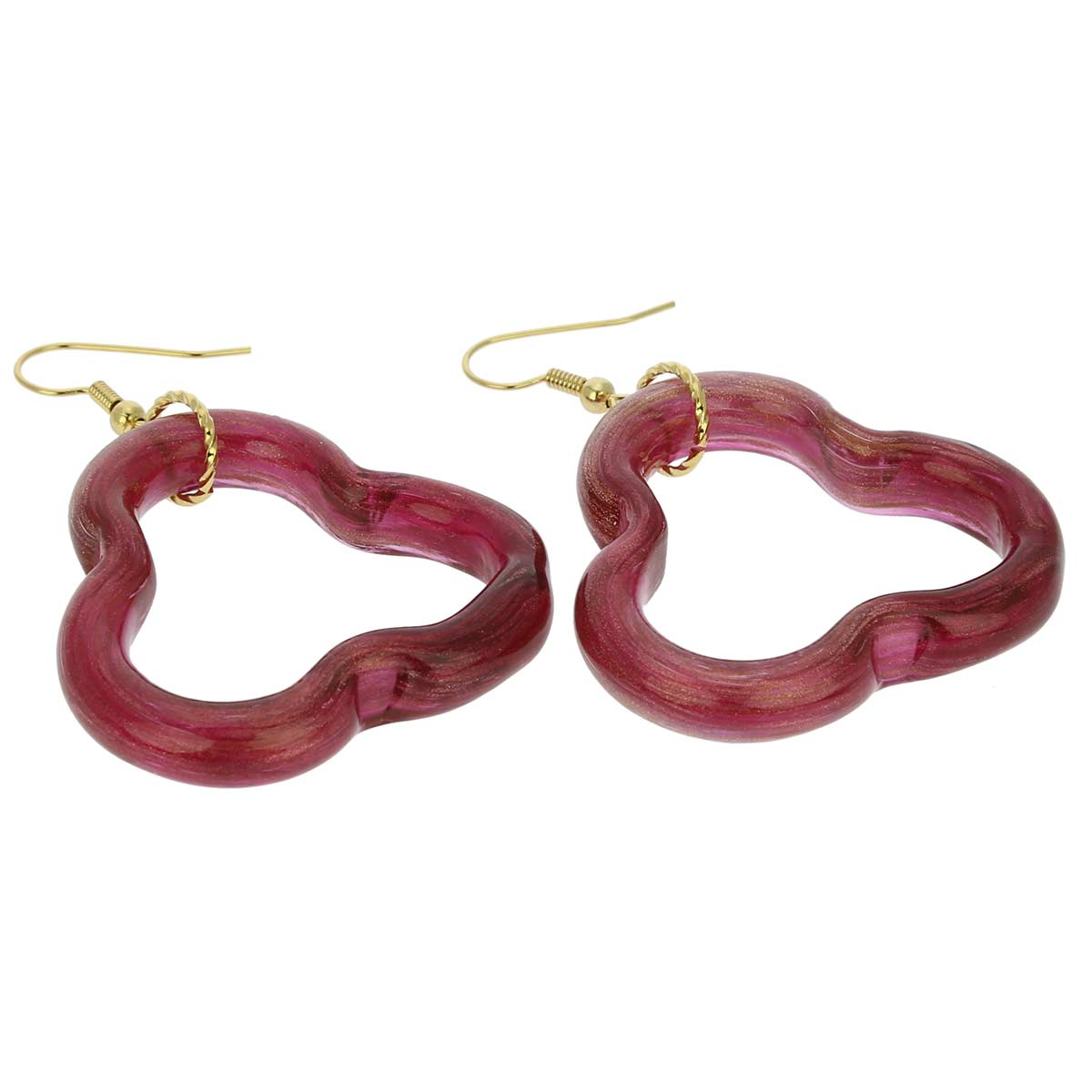 Nicoletta Murano Earrings - Cranberry