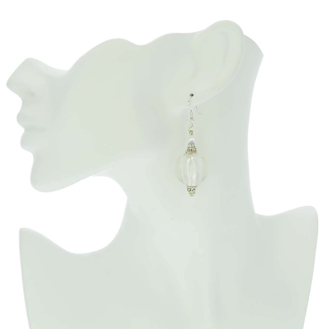 Silver Moonlight Murano Earrings