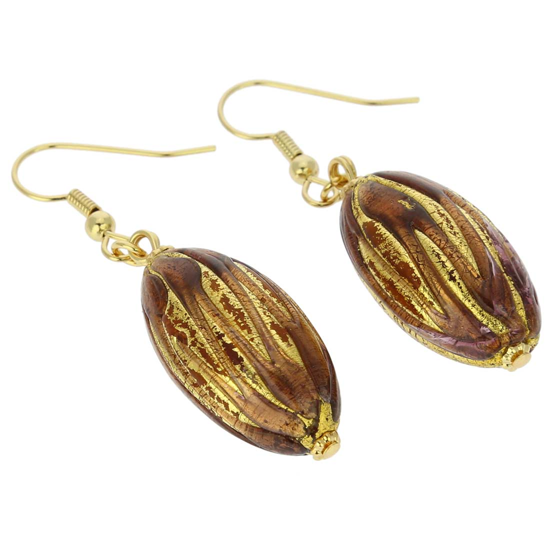 Royal Purple Capsule Earrings