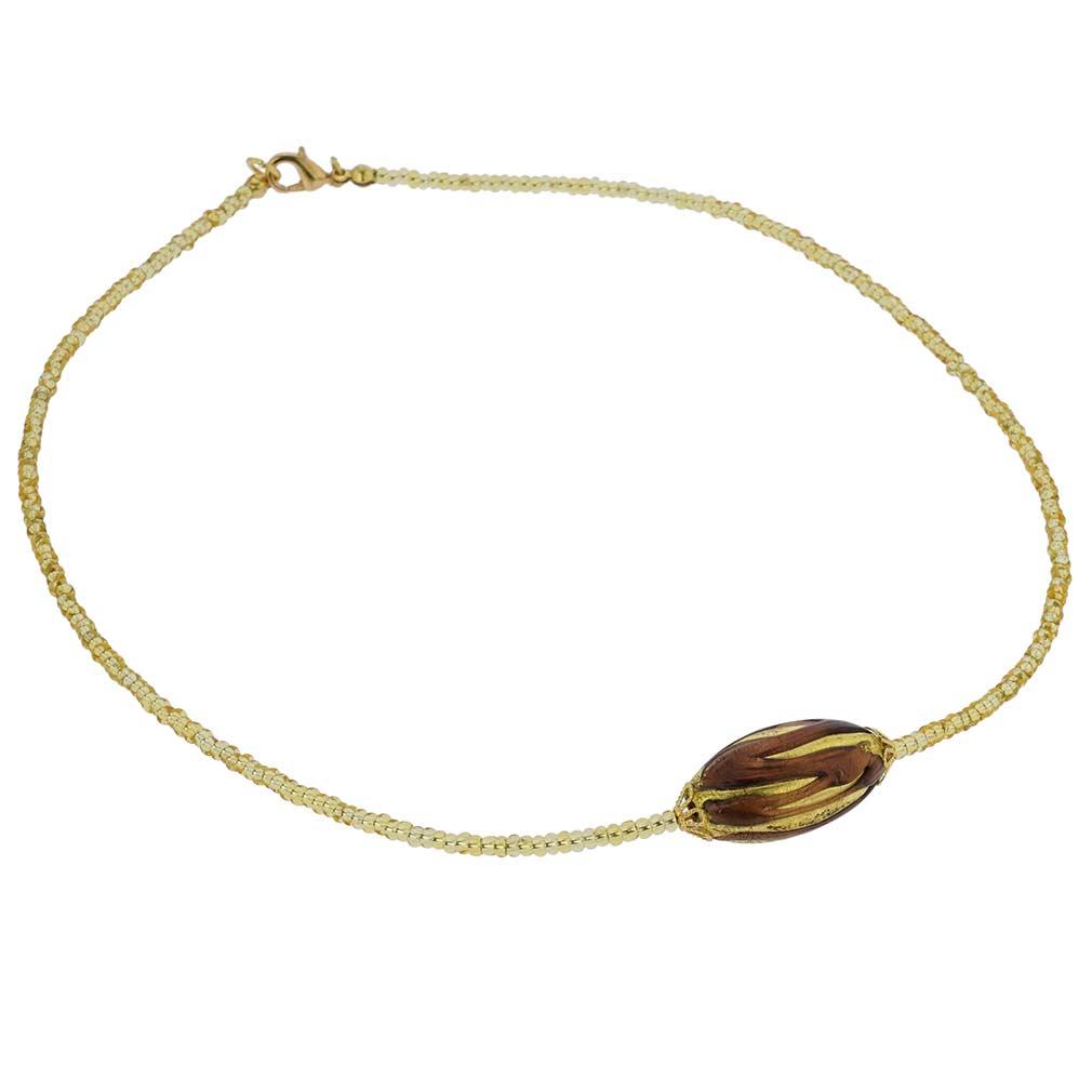 Royal Amethyst Capsule Necklace