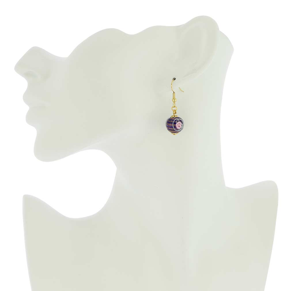 Magnifica Earrings - Navy Blue