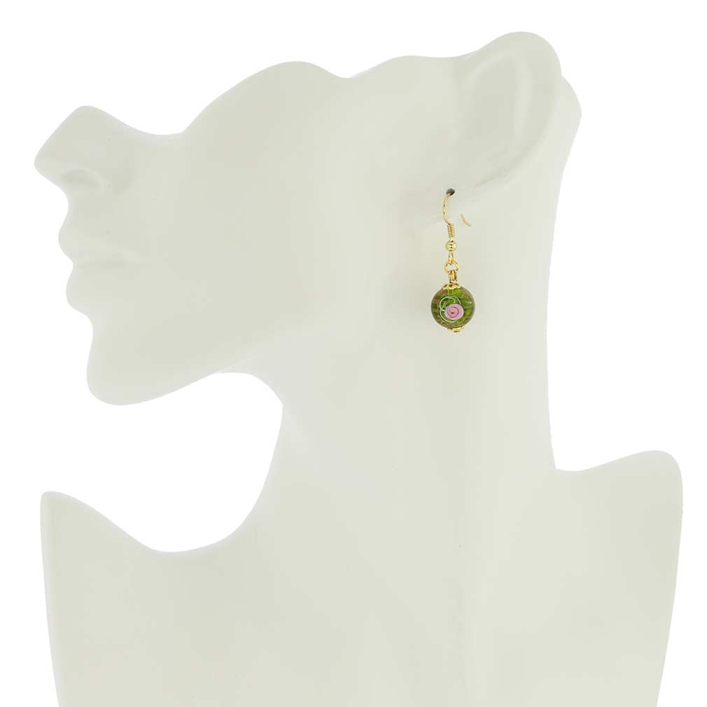 Magnifica Earrings - Emerald Green