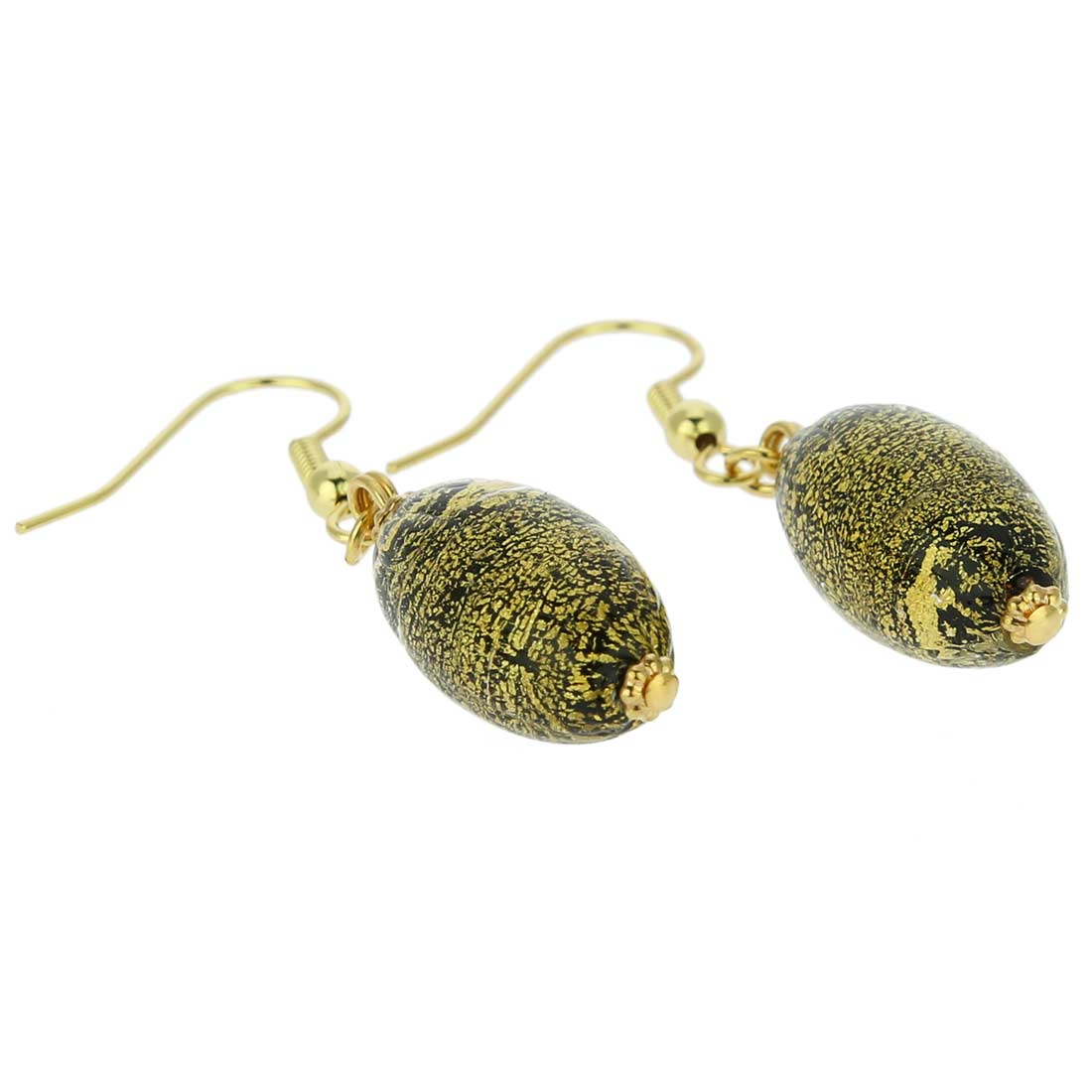 Ca D\'Oro Olives Earrings - Black