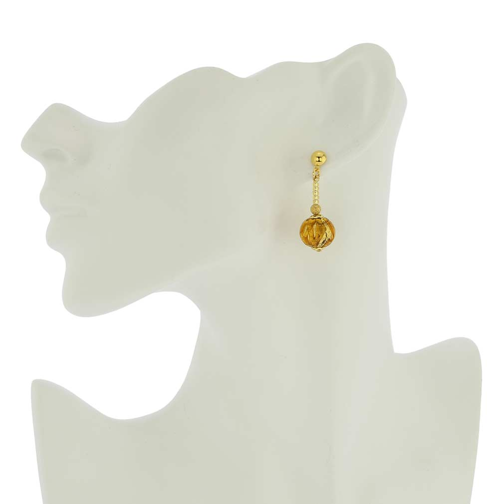 Canaletto Earrings - Golden Brown