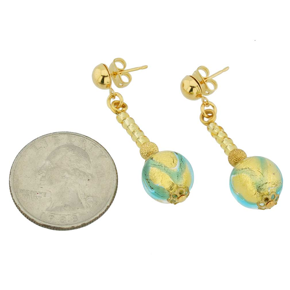 Canaletto Earrings - Gold Aquamarine