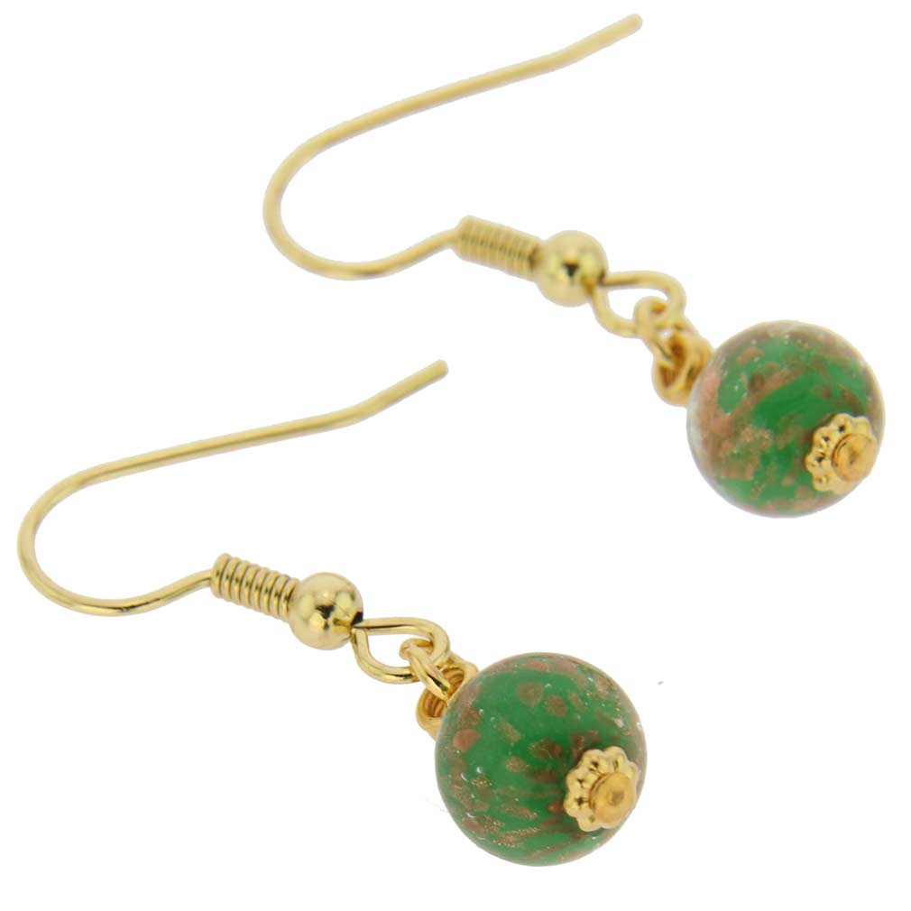 Starlight Balls Earrings - Emerald