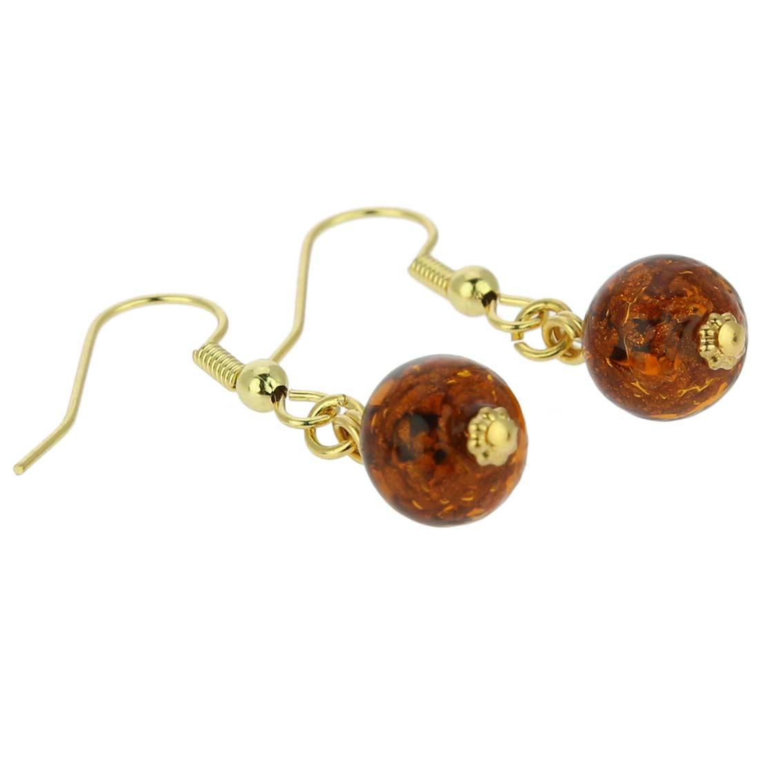Starlight balls earrings - cognac