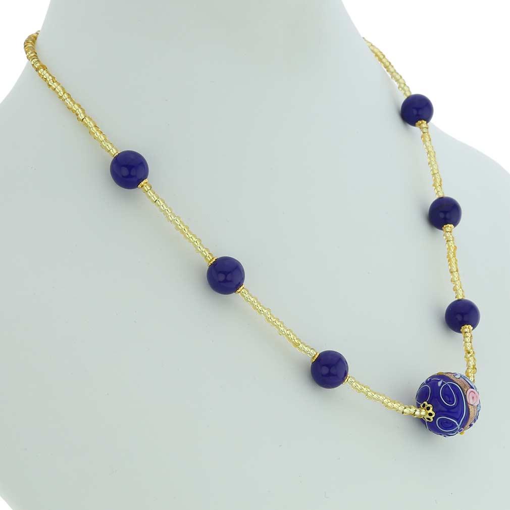Rialto Necklace - Cobalt Blue