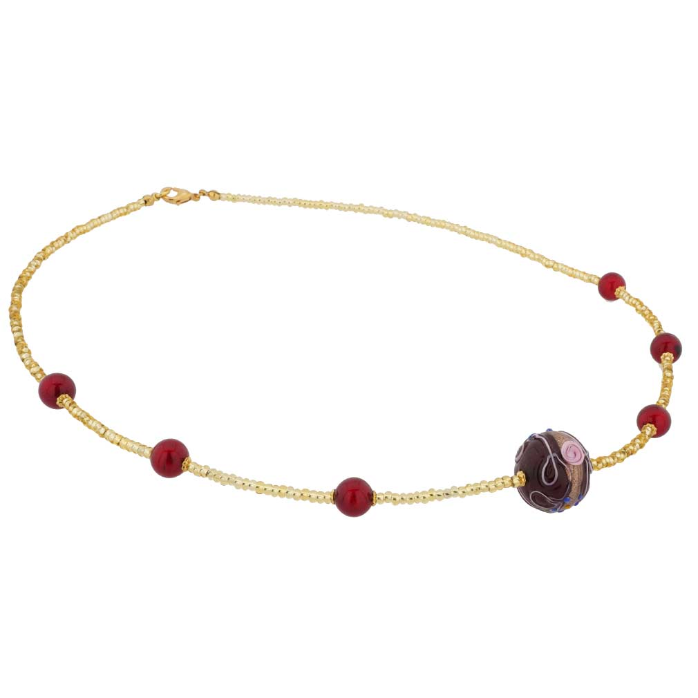 Rialto Necklace - Ruby Red