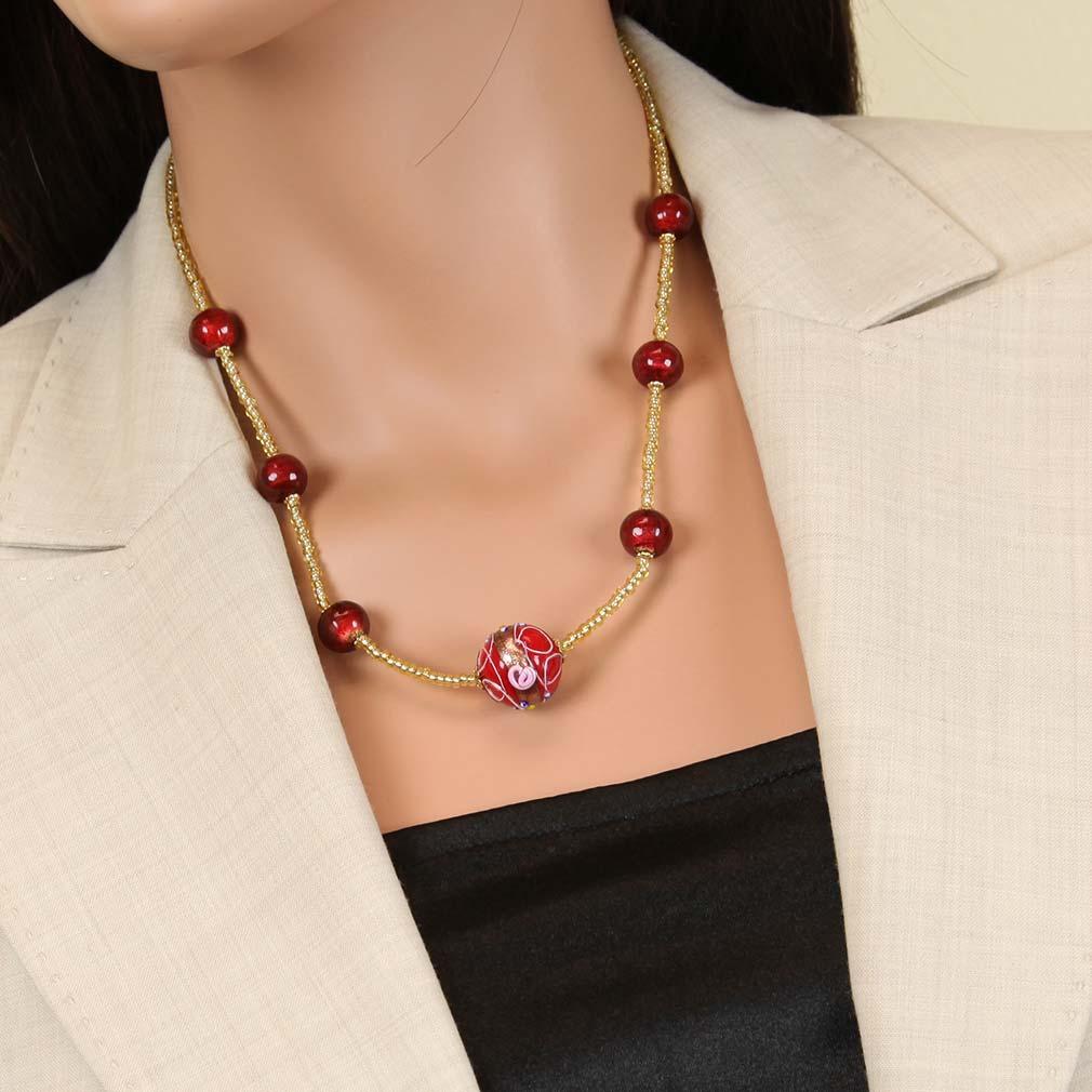Rialto Necklace - Ruby Red