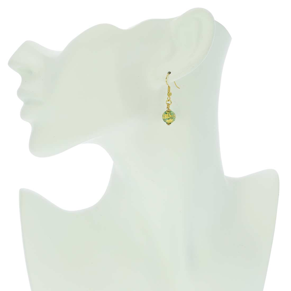 Golden Glow Earrings - Green