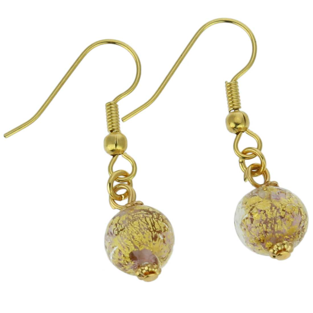 Golden Glow Earrings - Amethyst