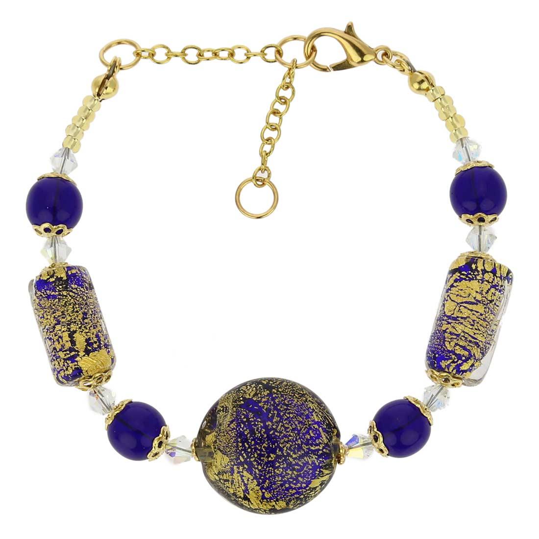 Ca D\'Oro Murano Bracelet - Cobalt Blue