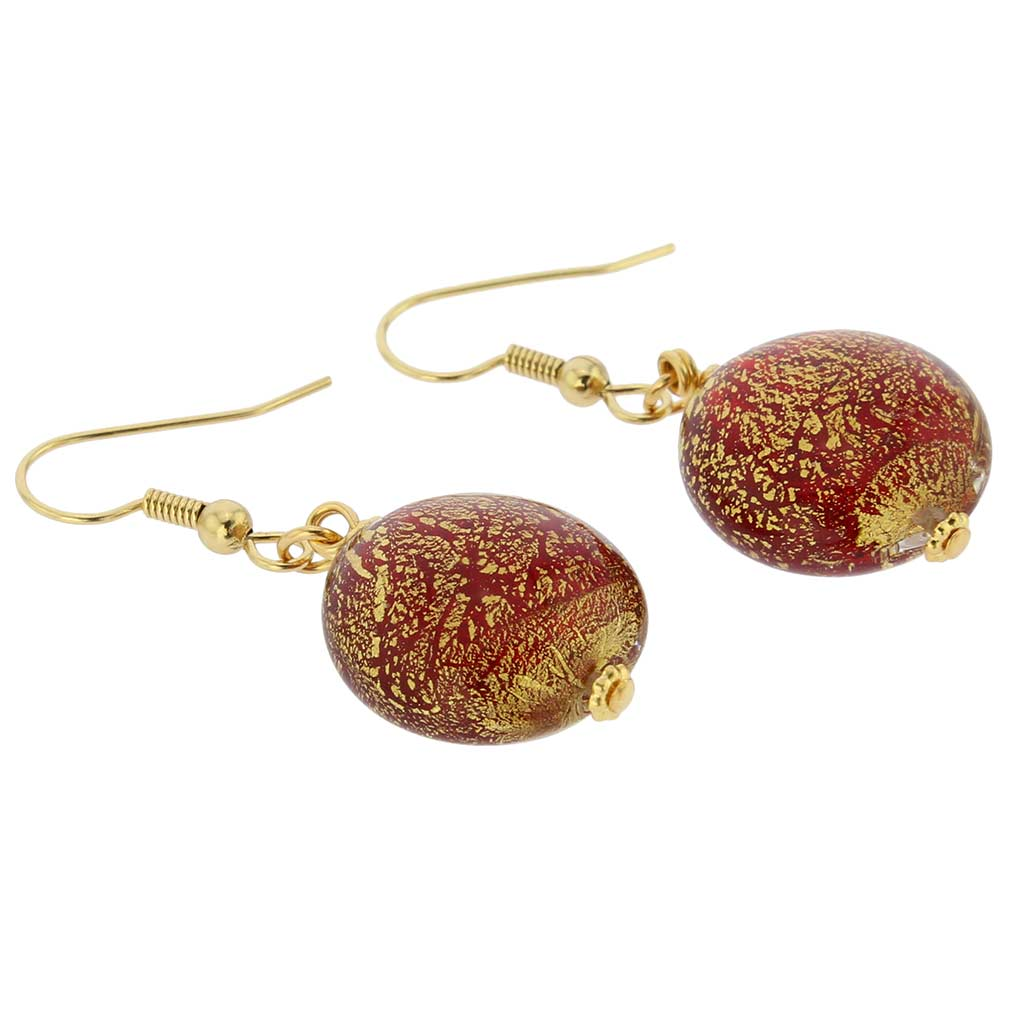 Ca D\'Oro Earrings - Ruby Red