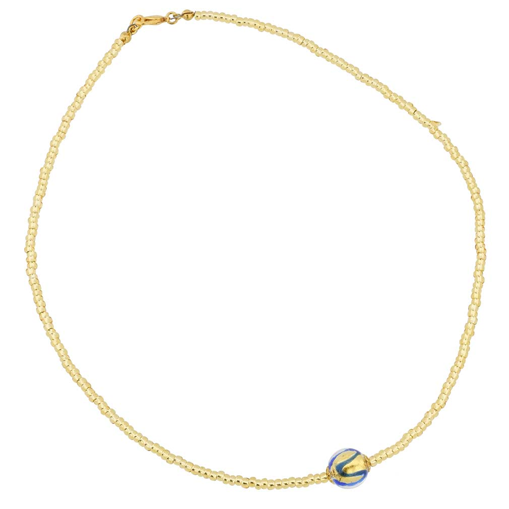 Royal Blue Ball Necklace
