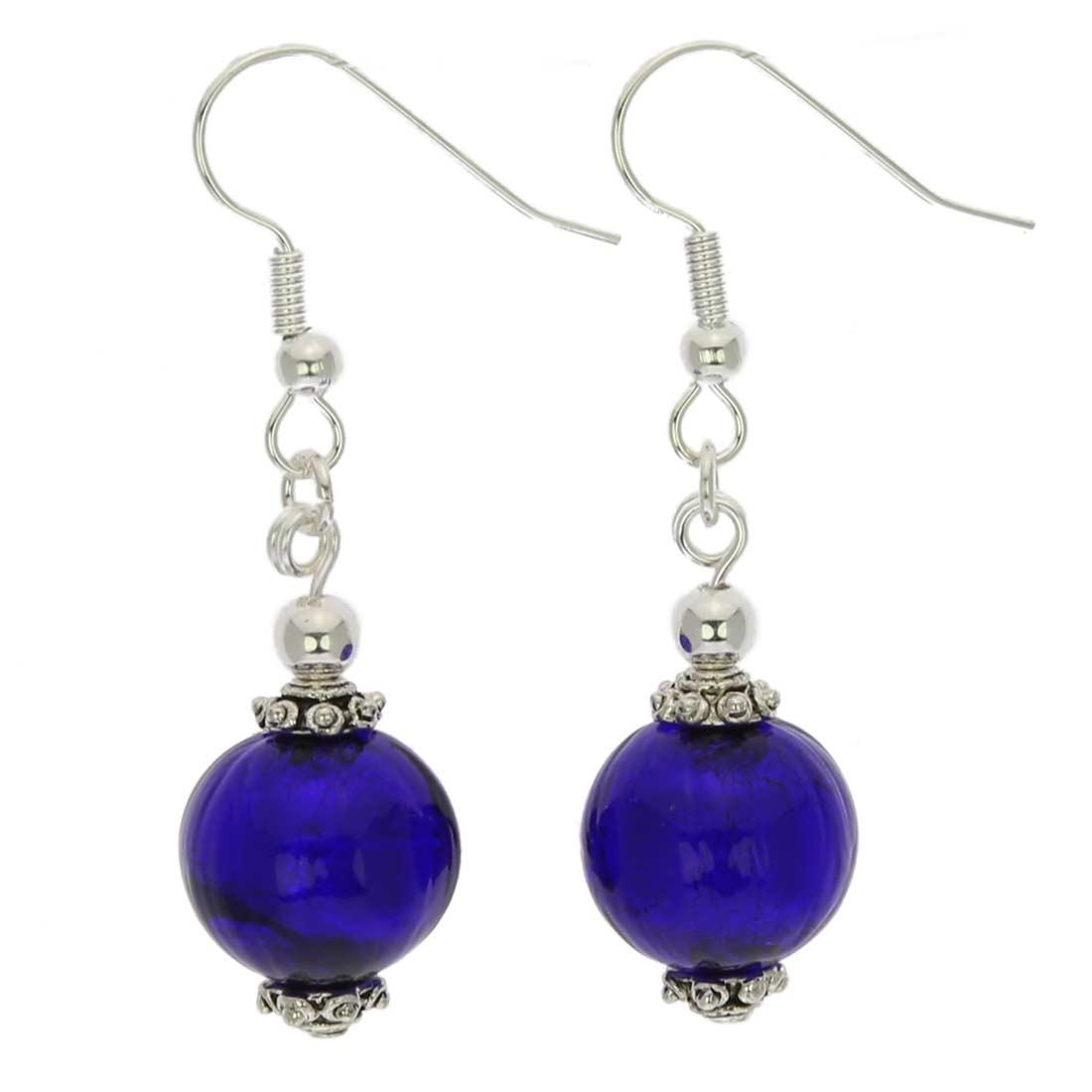 Antico Tesoro Balls Earrings - Silver Blue