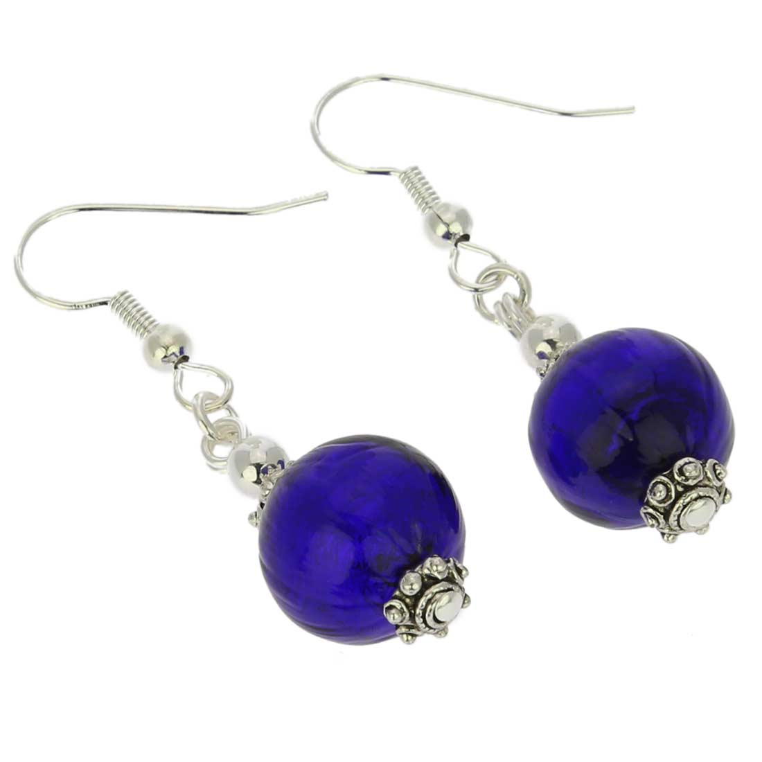 Antico Tesoro Balls Earrings - Silver Blue
