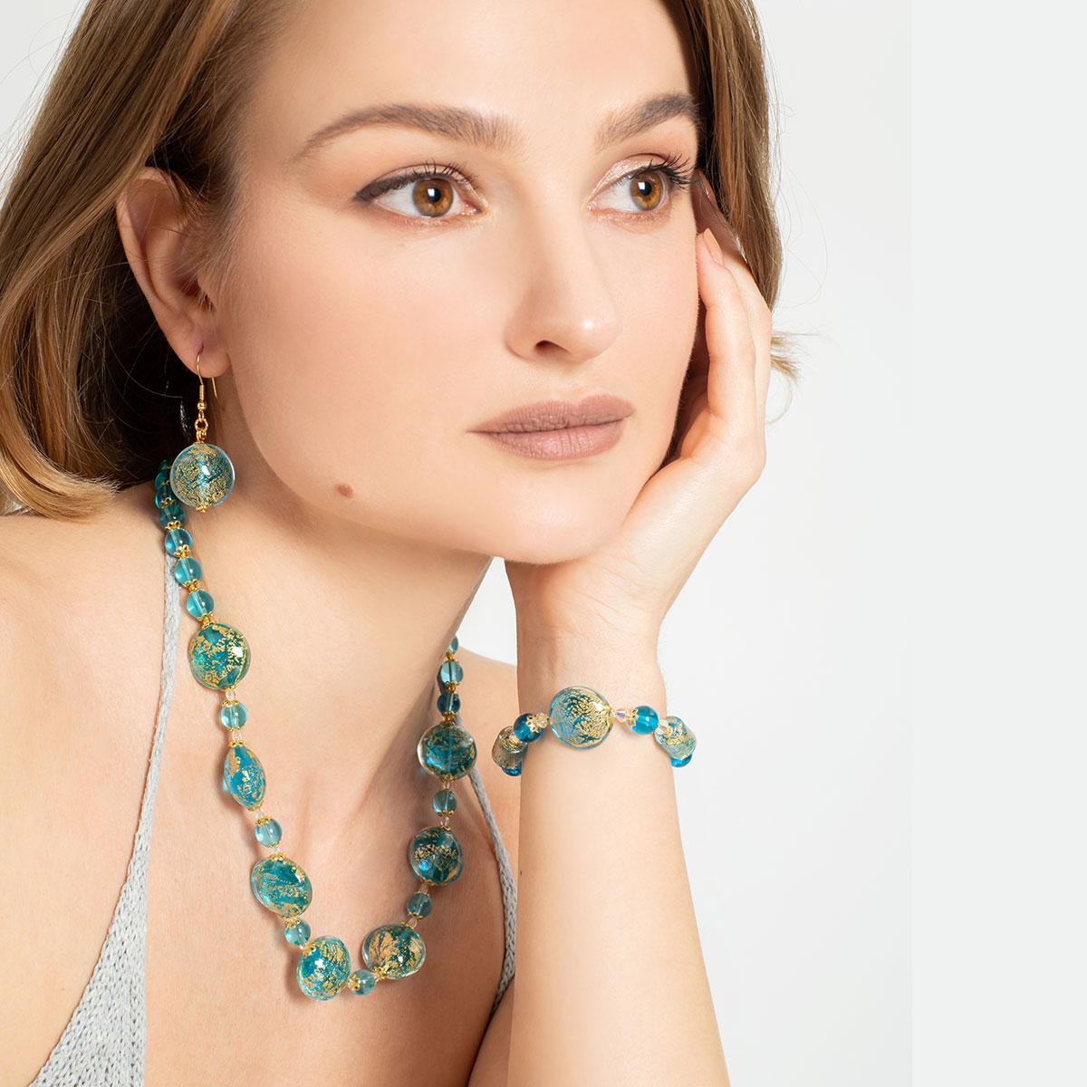 Ca D\'Oro Earrings - Aqua