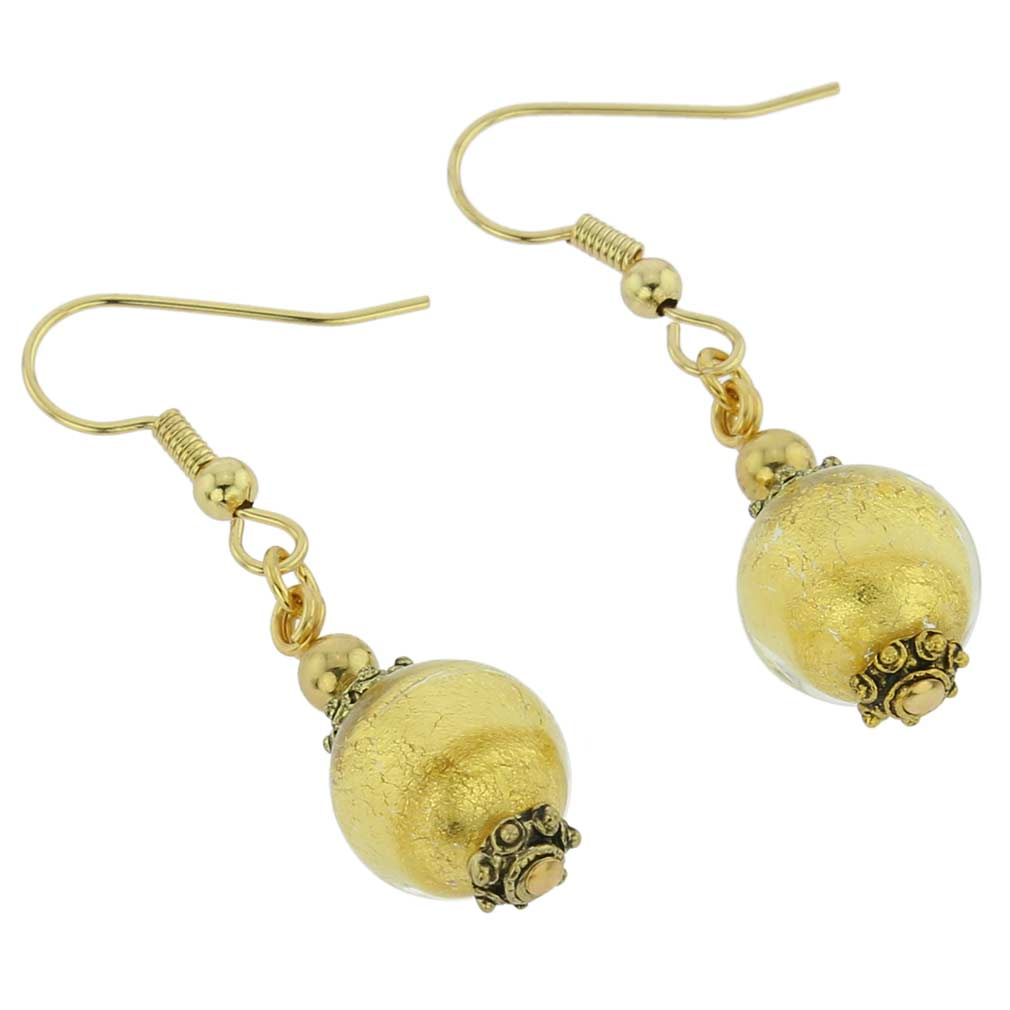 Antico Tesoro Balls Earrings -Gold