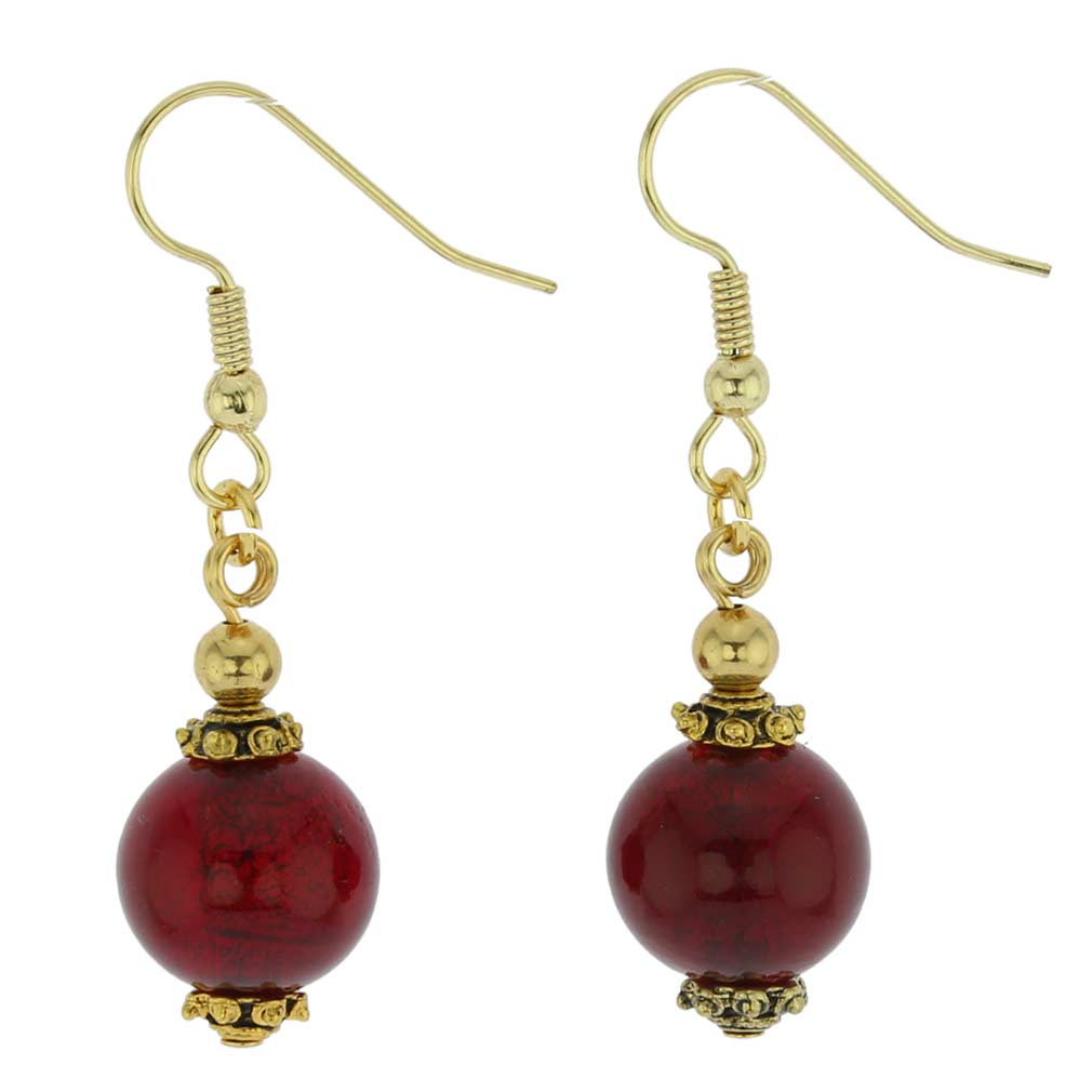 Antico Tesoro balls earrings -ruby red