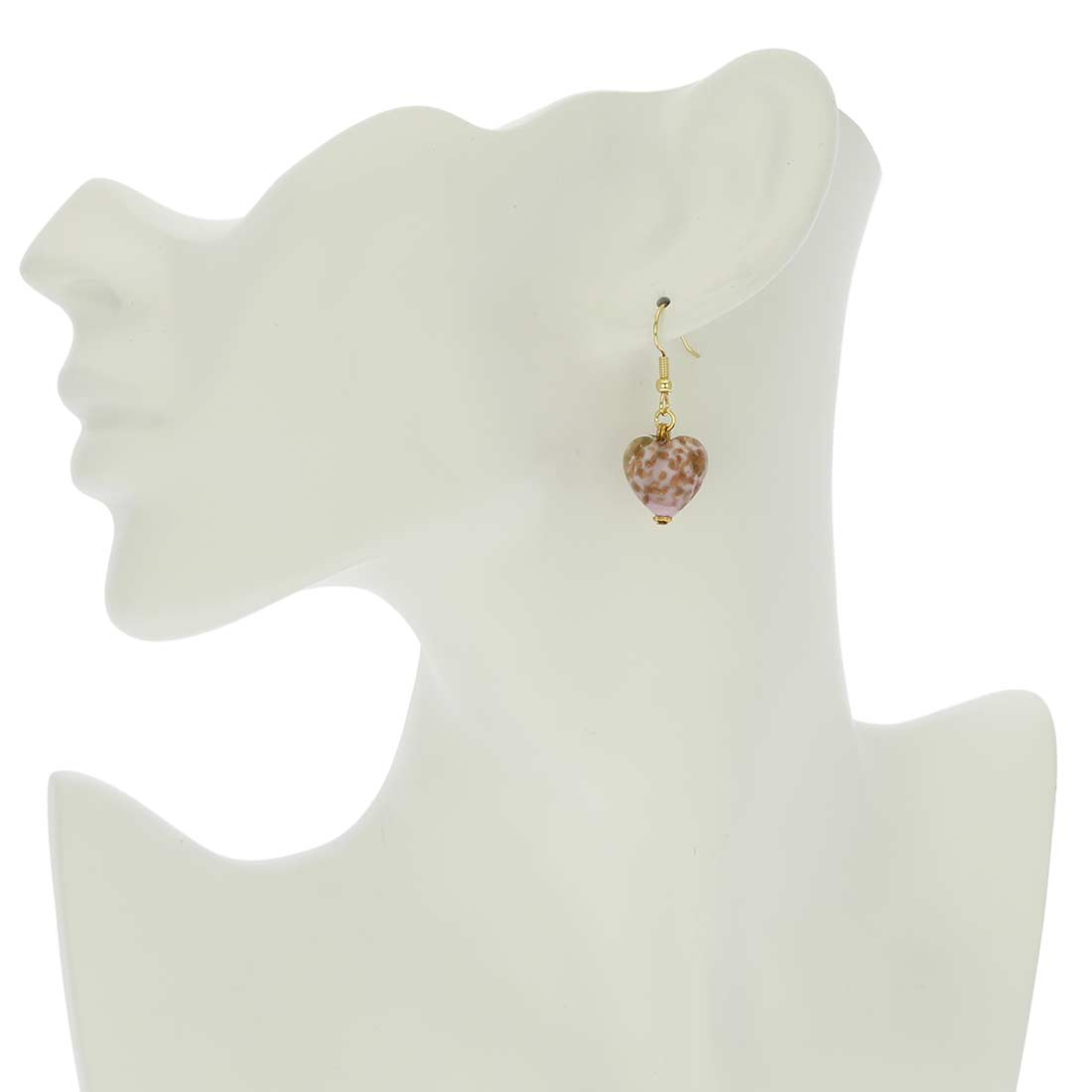 Starlight Hearts Earrings - Rose Pink