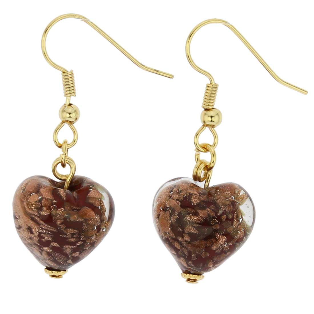 Starlight Hearts earrings - ruby red