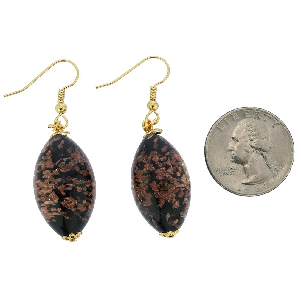 Starlight Olives Earrings - Black Topaz