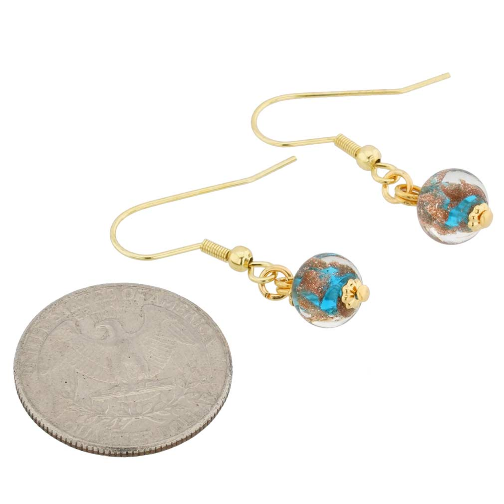Starlight Balls Earrings - Teal