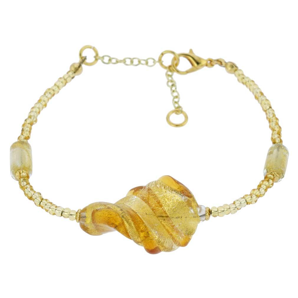 Royal Cognac Spiral Bracelet