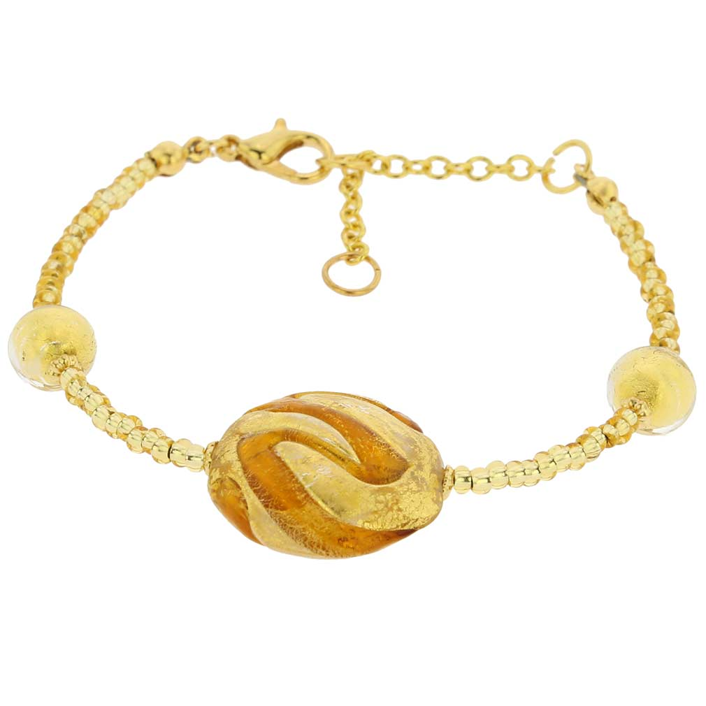 Royal Cognac Circle Bracelet