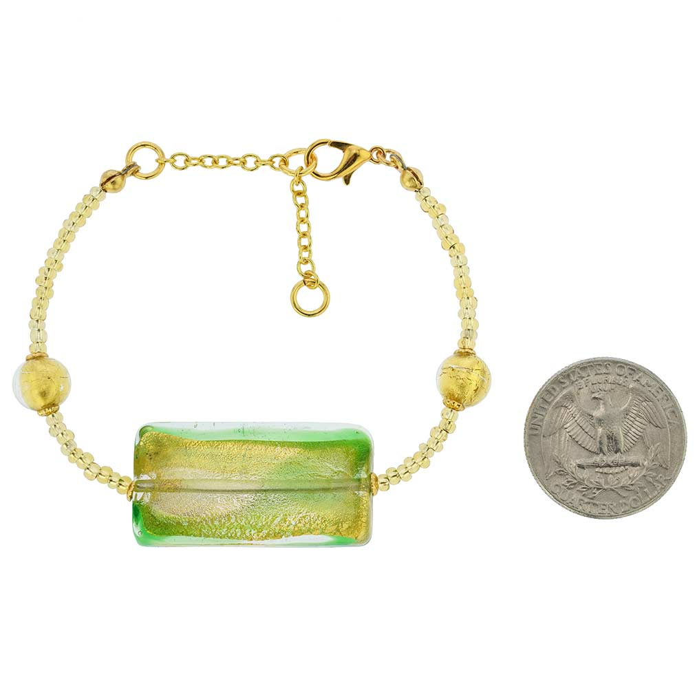 Royal Green Block Bracelet