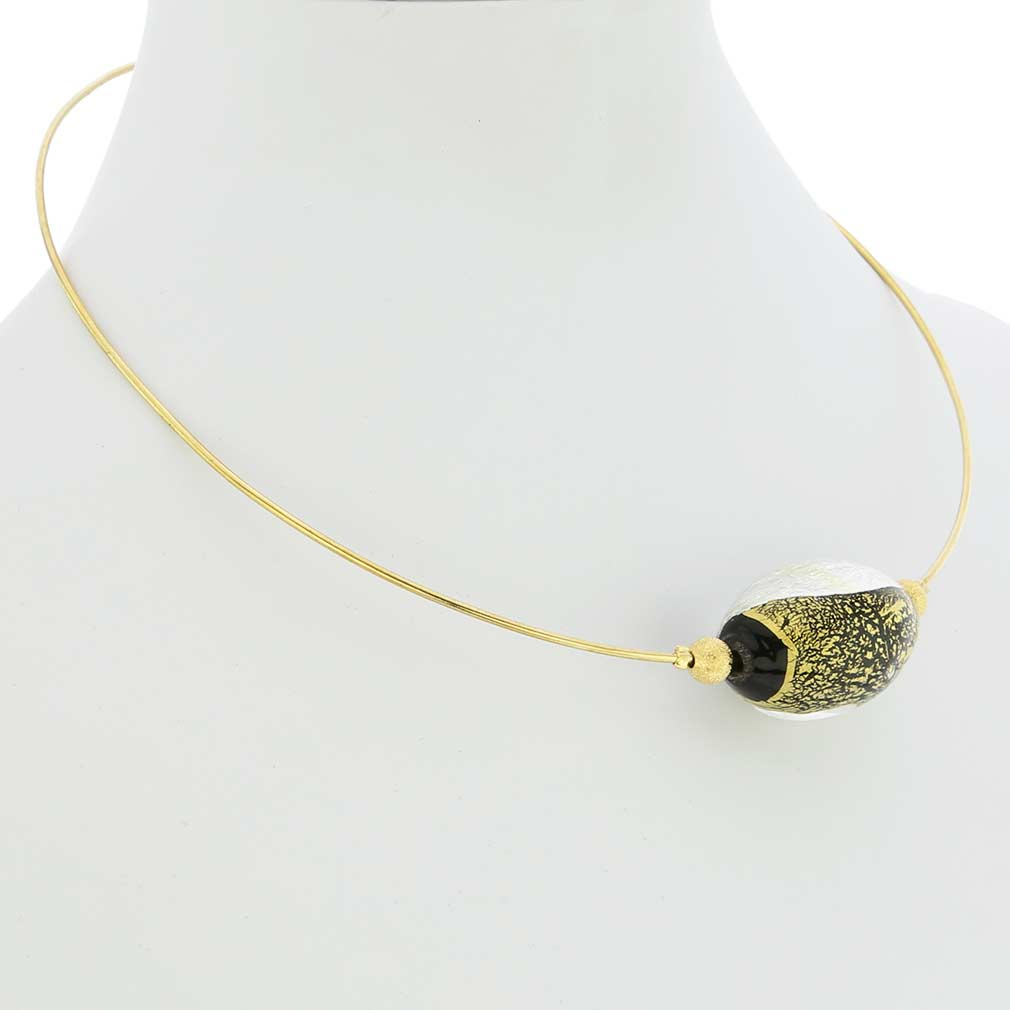Gold and Silver Foil choker necklace